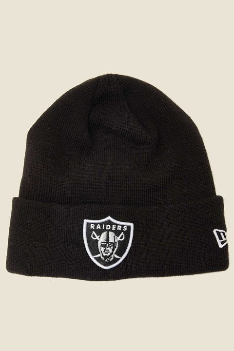 NEW ERA 6Dart Knit Beanie Oakland Raiders Black/White
