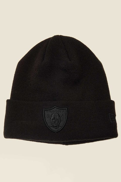NEW ERA 6Dart Knit Beanie Oakland Raiders Black/Black
