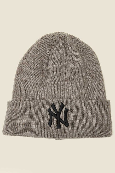 New Era 6Dart Knit Beanie NY Yankees Grey Marle/Black