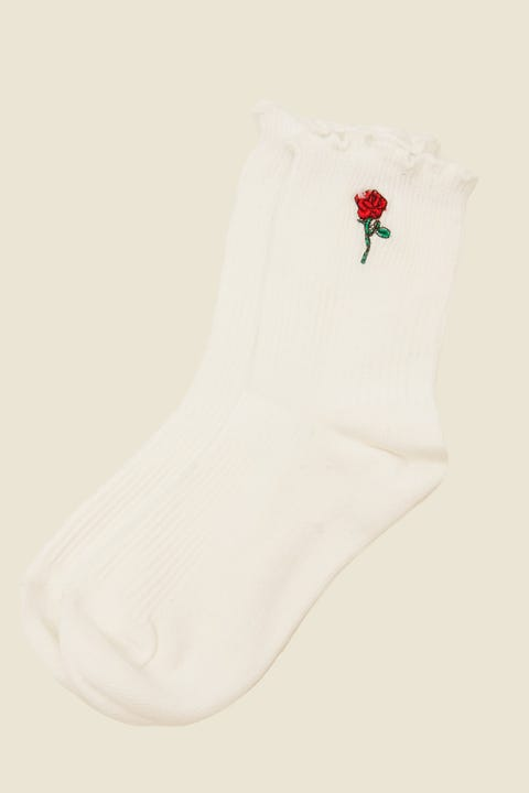 TOKEN Rose Dion Sock White