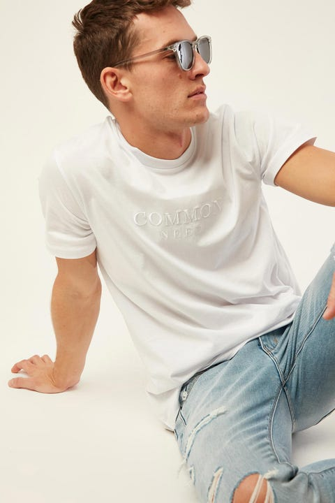 COMMON NEED Oak Tee White