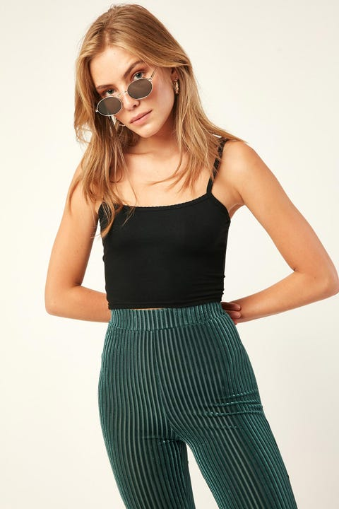 L&T Pretty Crop Top Black