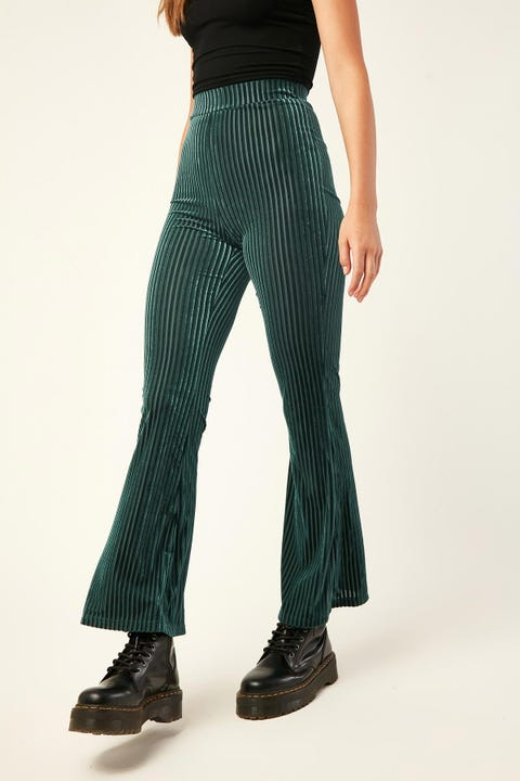 LUCK & TROUBLE Velvet Flares Teal