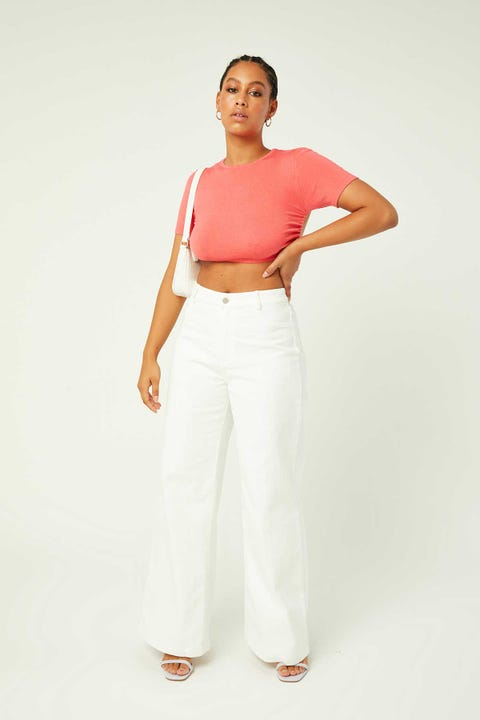 PERFECT STRANGER Nevaeh Wide Leg Pant White