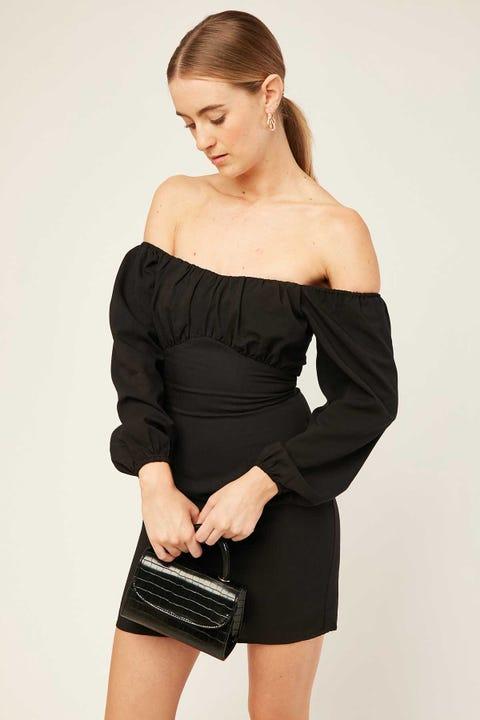 PERFECT STRANGER Dakota Mini Dress Black