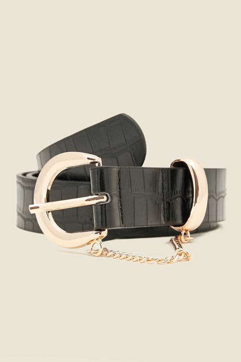 Token Influential Croc Belt Black
