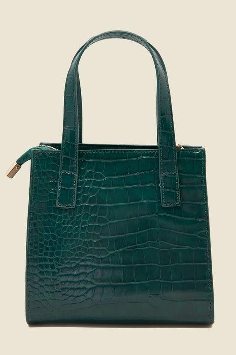 TOKEN Stassie Croc Handbag Green