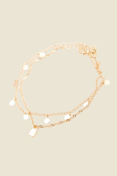 TOKEN Locked Out Anklet Gold