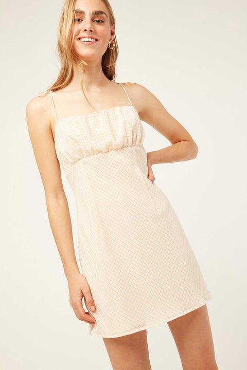 Perfect Stranger Hime Check Mini Dress Pink Print