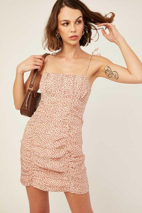 LUCK & TROUBLE Miami Loving Dress Cream Print