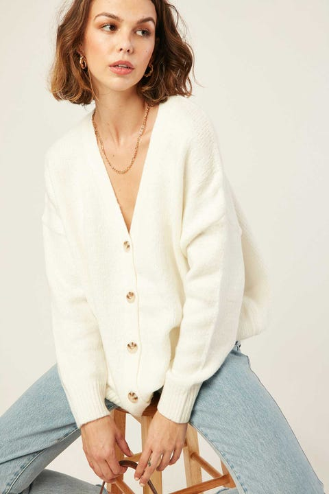 Perfect Stranger Own It Cardigan Cream