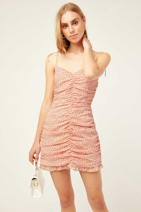 PERFECT STRANGER Cyprus Mini Dress Pink Print