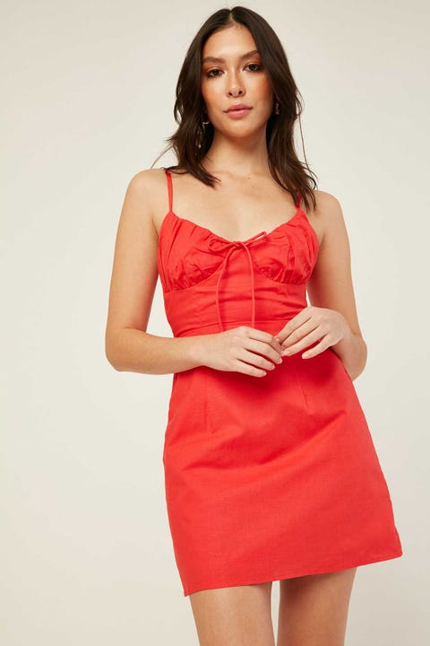 PERFECT STRANGER Shake It Off Mini Dress Red