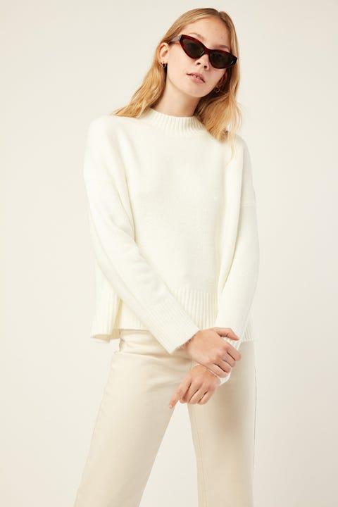 PERFECT STRANGER Dana Knit White