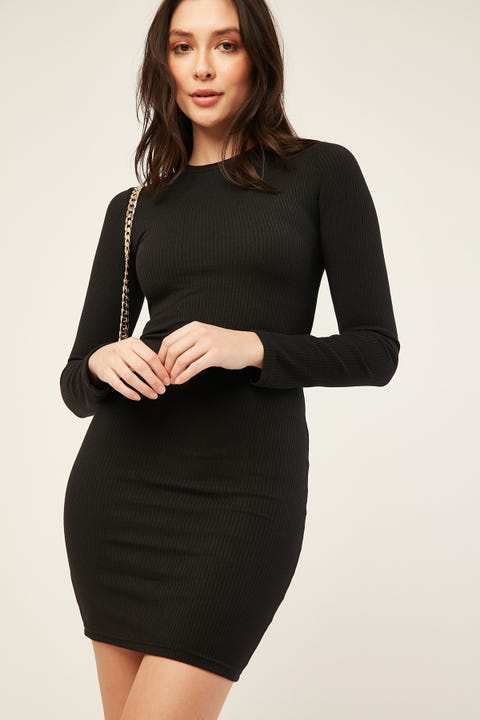 L&T Nellie Mini Dress Black