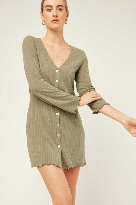 PERFECT STRANGER Grecia Dress Khaki