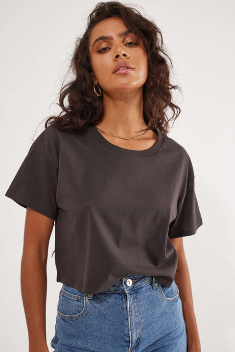 AS Colour Crop Tee Coal