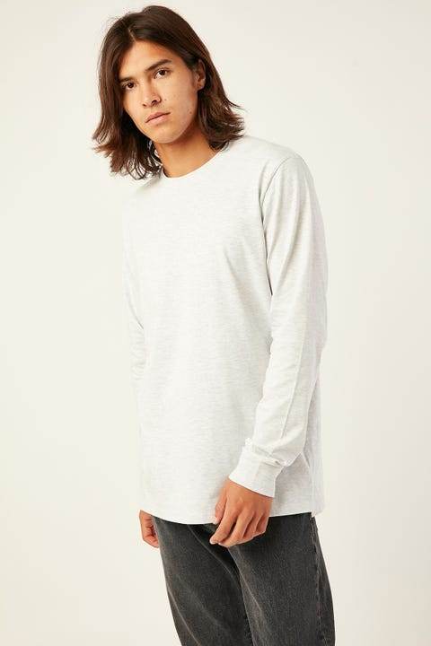 AS COLOUR Base Long-Sleeve Tee Ash Heather
