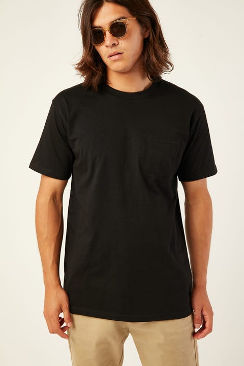 AS COLOUR Classic Pocket Tee Black