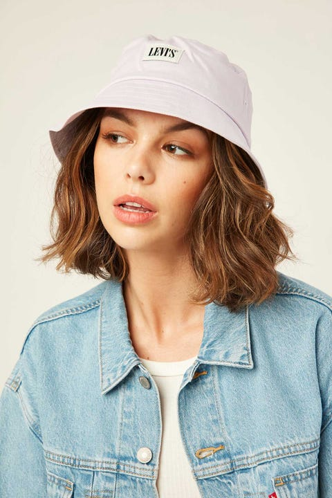 LEVI'S Serif Bucket Hat Light Purple