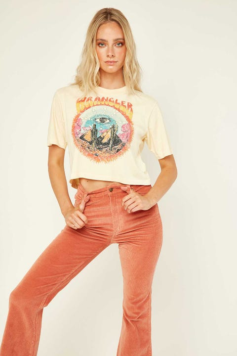 Wrangler Cactus Eye Crop Tee Golden Haze