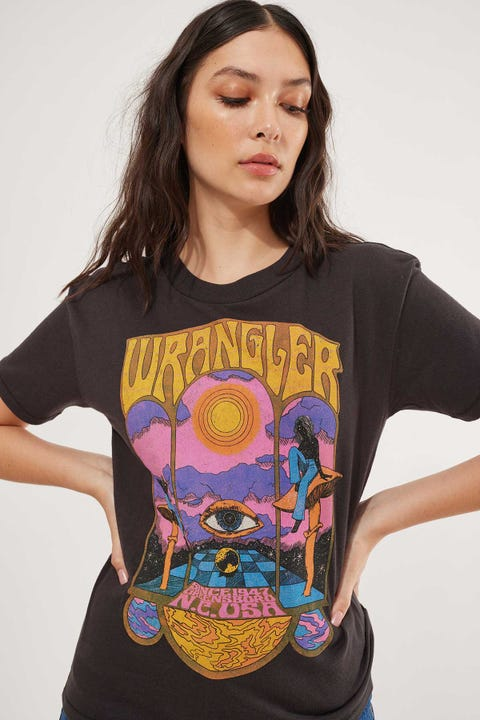 Wrangler Enchanter Tee Worn Black