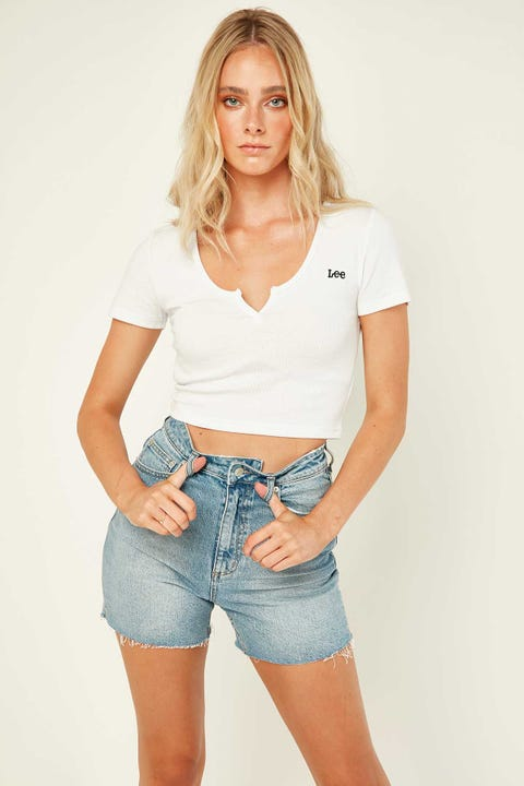 Lee Hailey Rib Tee White