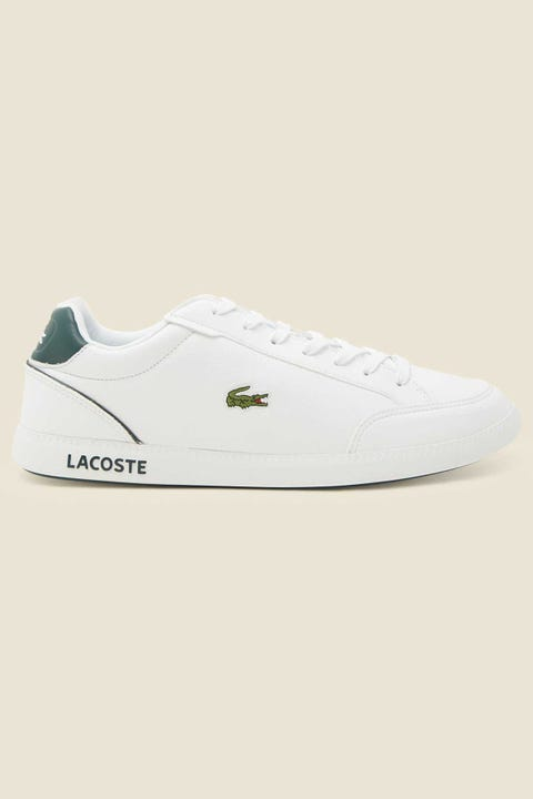 LACOSTE Mens Graduate Cap White/Dark Green