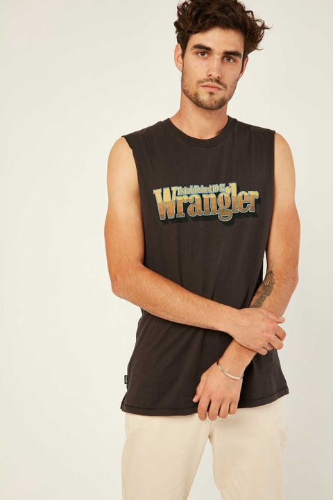 Wrangler Hyland Muscle Worn Black