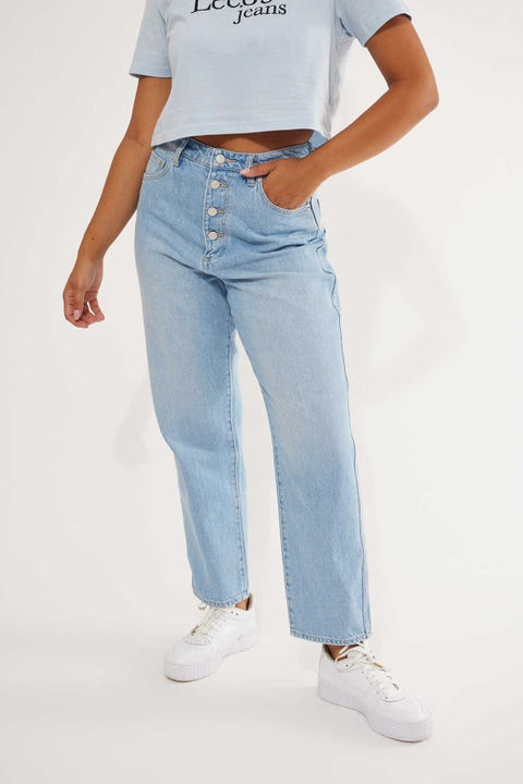 Lee High Relaxed Jean Quartz Blue Quartz Blue