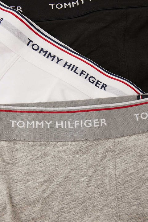 Tommy Jeans Premium Essentials Stretch Trunk 3 Pack Black/White/Heather Grey