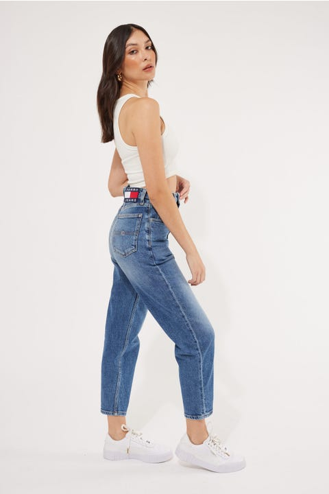 Tommy Jeans Mom Jean High Rise Tapered Oslo Light Blue Comfort