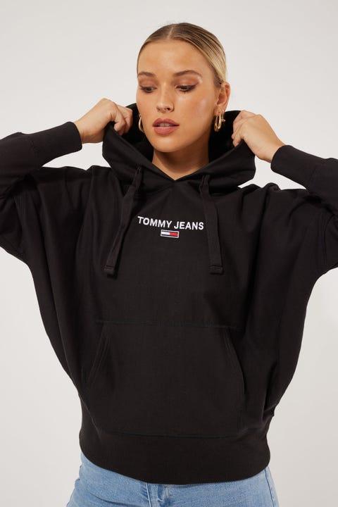 Tommy Jeans Logo Batwing Hoodie Black