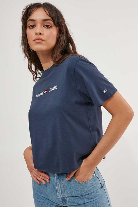 Tommy Jeans Modern Linear Logo Tee Twilight Navy