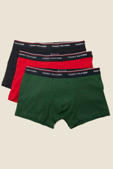 Tommy Jeans Premium Essentials 3 Pack Trunk Desert Sky/Terrain/Primary Red