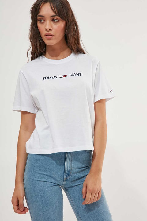 Tommy Jeans Modern Linear Logo Tee White