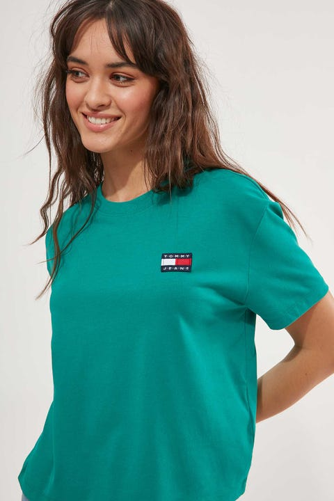 Tommy Jeans Badge Tee Midwest Green