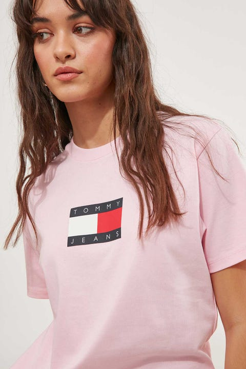 Tommy Jeans Tommy Badge Shortsleeve Tee Romantic Pink