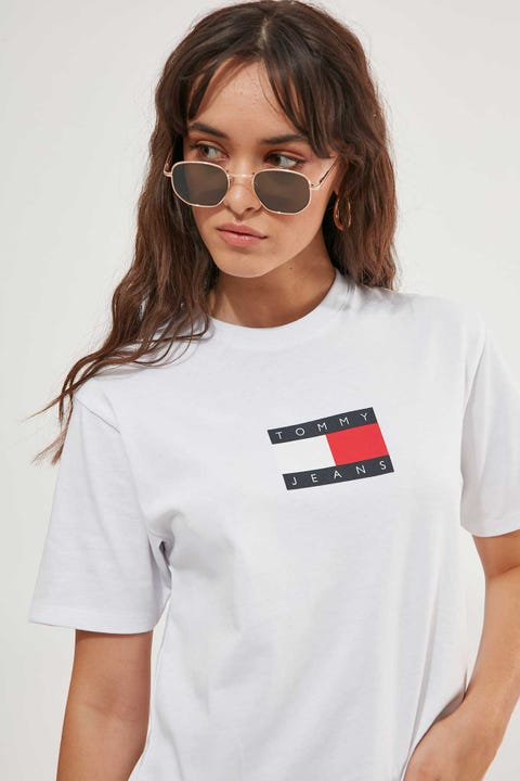 Tommy Jeans Tommy Flag Boxy Tee White