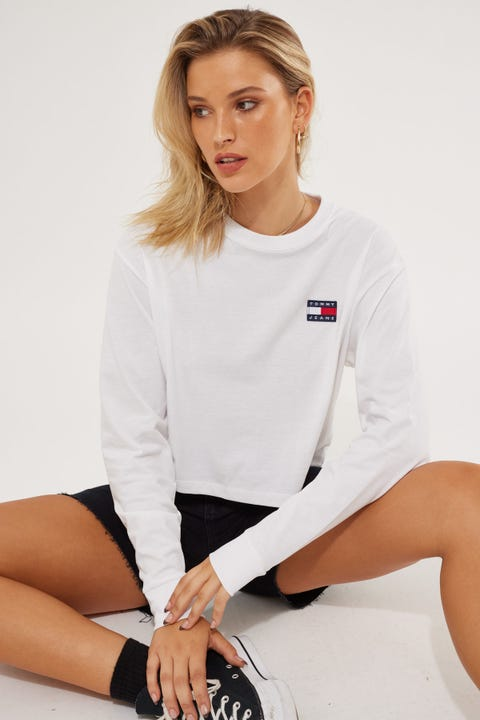 Tommy Jeans Tommy Badge Longsleeve White