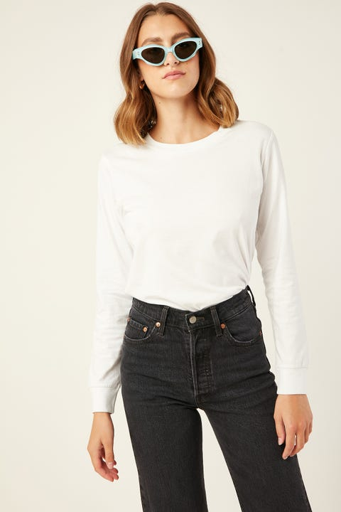 AS Colour Dice Long Sleeve Tee White