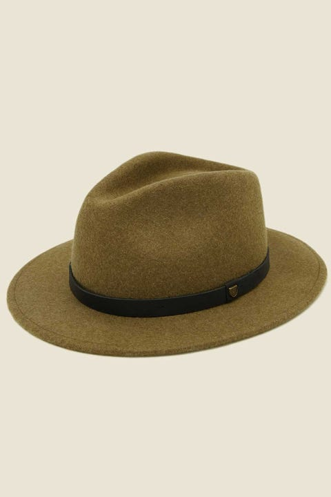BRIXTON Messer Fedora (Adjustable) Olive/Black
