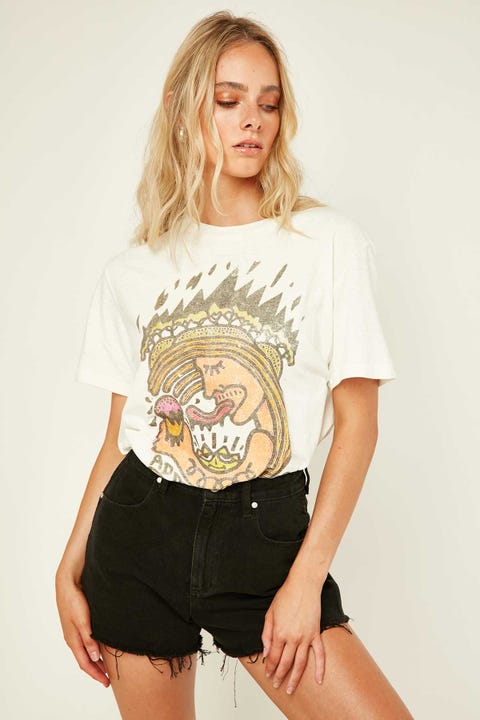 WRANGLER x Lime Cordiale Addicted SS Tee Vintage White