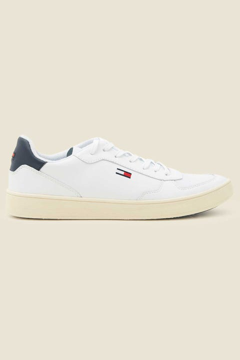 TOMMY JEANS Mens Essential Cupsole Sneaker White
