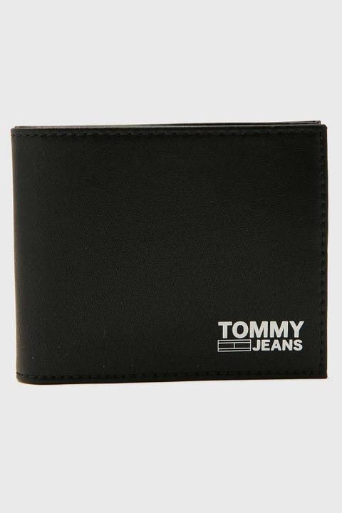 TOMMY JEANS Mini CC Wallet Recycled Black Leather