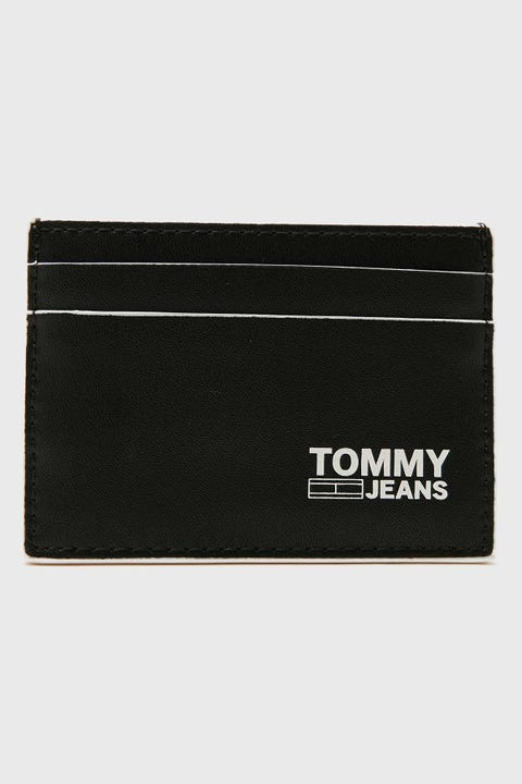 TOMMY JEANS CC Holder Recycled Black Leather
