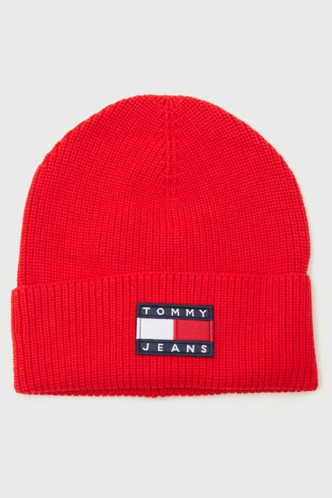 Tommy Jeans Heritage Beanie Deep Crimson