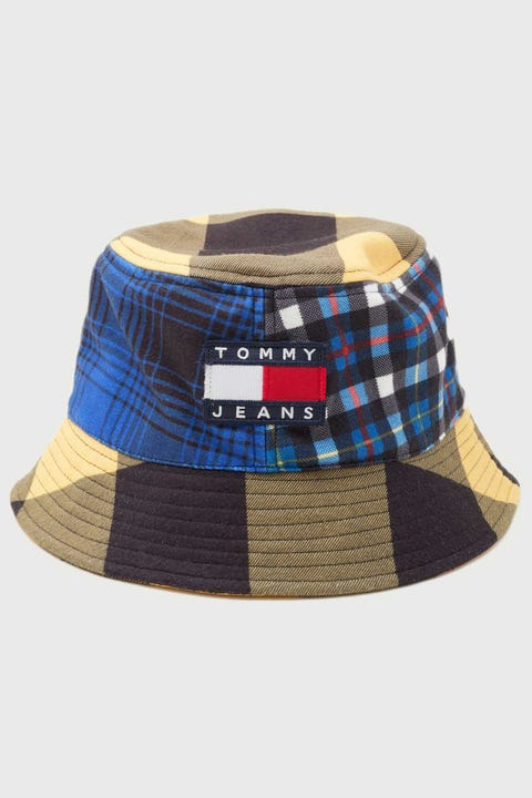 Tommy Jeans Heritage Bucket Hat Check Blue/Yellow Mix