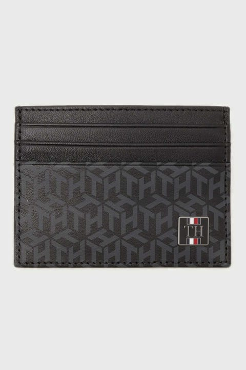 Tommy Jeans Monogram CC Holder Black