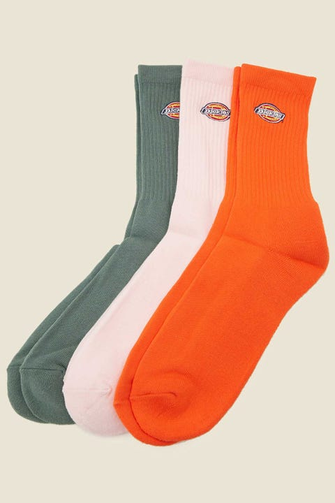 Dickies HS Rockwood Sock 3 Pack Pink/Green/Orange